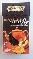 Оздоровительный чай черный Big Aktive с кусочками абрикоса и лепестками календулы Польша 80г