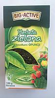 Чай зеленый Big Aktiv с кактусом и лепестками розы Польша 100г