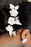 Шпильки свадебные с розами