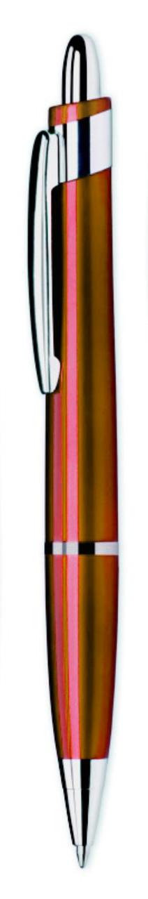 Ручка пластиковая ARROW. Красная с серебристой полосой