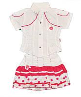 Летний костюм для девочек от 1 до 3 лет