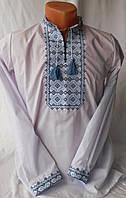 Вышиванка рубашка для мальчика голубая 158.164 см) )