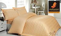 Бамбуковое постельное белье 200х220 Mariposa de luxe Tencel жаккард NATURAL LIFE HONEY V8