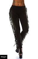 Черные женские лосины с бархатом