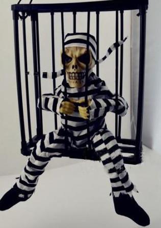 Укладений скелет у клітці, декор на Хеллоуїн