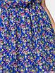 Летнее синее Платье цветочный принт, фото 3