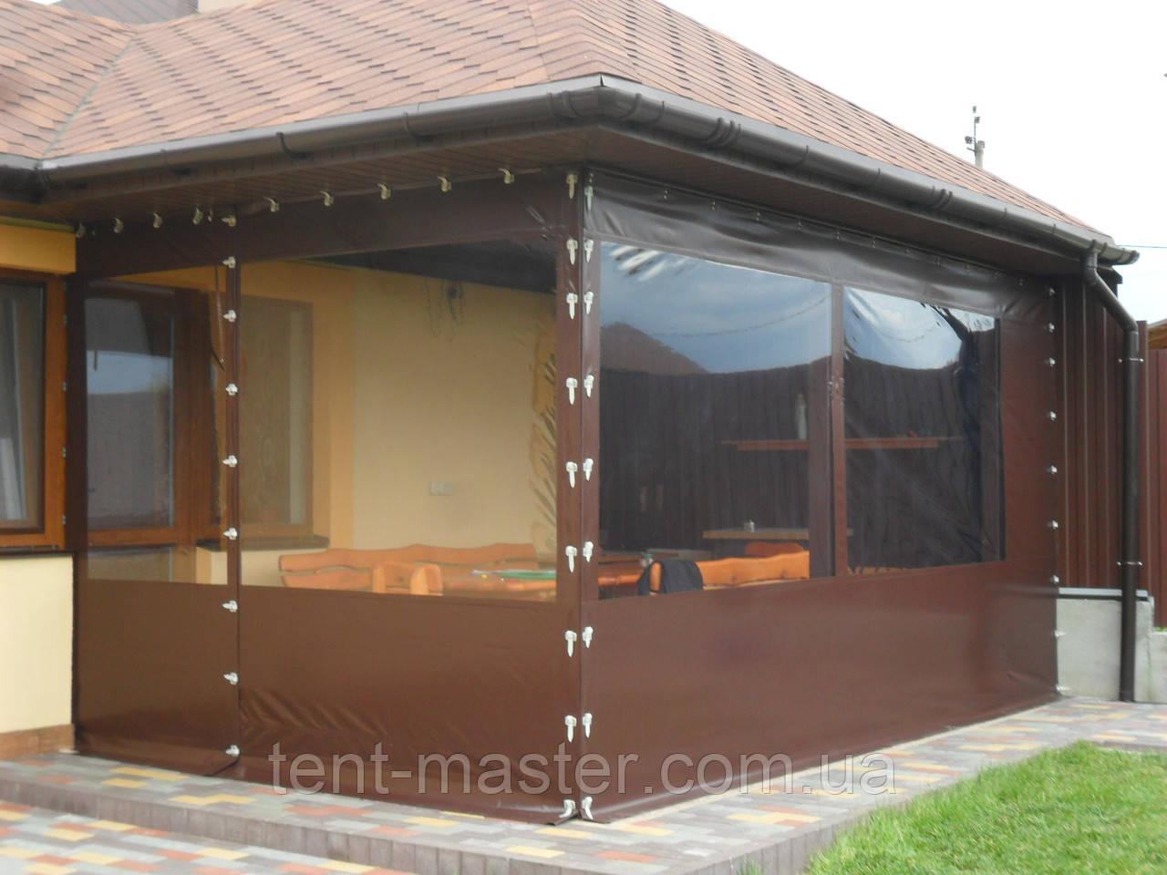 Изготовление прозрачных ПВХ штор для веранды