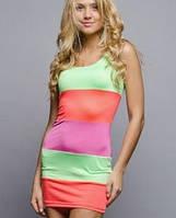 Цветное платье | В полоску sk