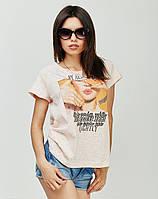 Качественная молодежная футболка из трикатажа