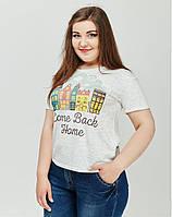 Молодежная футболка с красивым принтом