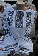 """Жіноча вишиванка """"Лілія"""" чорна"""