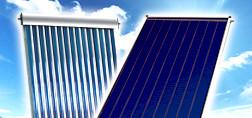 Вакуумные и плоские солнечные коллекторы для отопления дома и нагрева воды