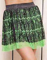 Летняя женская юбка | Шифон с гипюром sk