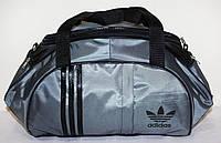 Стильная спортивная сумка ADIDAS LS-530 (темно-серый+черный)