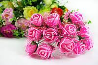 Розы латекс розовые в фатиновой юбочке диаметр 1.5-2.0 см уп./ 10 цветков