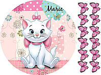 Кошечка Marie 1 Вафельная картинка
