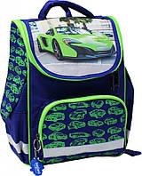 """Рюкзак школьный ортопедический Bagland """"Car green'"""