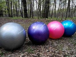 Мяч для фитнеса фитбол гладкий с антирозрывов розмеры 45,55,65,75,85,см
