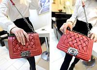 Женская сумка клатч через плечо Chanel Boy
