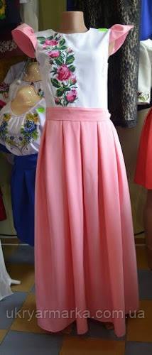 "Вишита сукня ""Веснянка"" рожева"