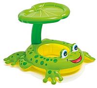 Плотик 56584 жабка с навесом (119 х 79 см) в коробке  HN