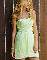 Шифоновое платье в горошек   Романтик горох sk зеленый