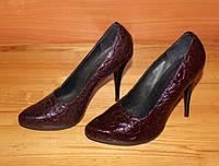 Туфли кожаные на шпильке модель Т1К1