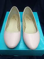 Балетки розовые кожа 36 размер, классические балетки, новинка 2018.