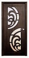 Межкомнатная двери модель 2 ПО тиковое дерево