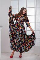 Нарядное длинное весеннее платье