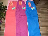Балоневые брюки  для девочек на флисе 116-146 см