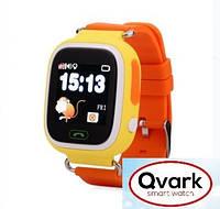 Детские часы Smart watch Qvark 100 c GPS трекером Orange
