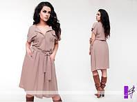 Платье до колена на пуговицах высокого качества 822 ЮГ Н 44, фото 1