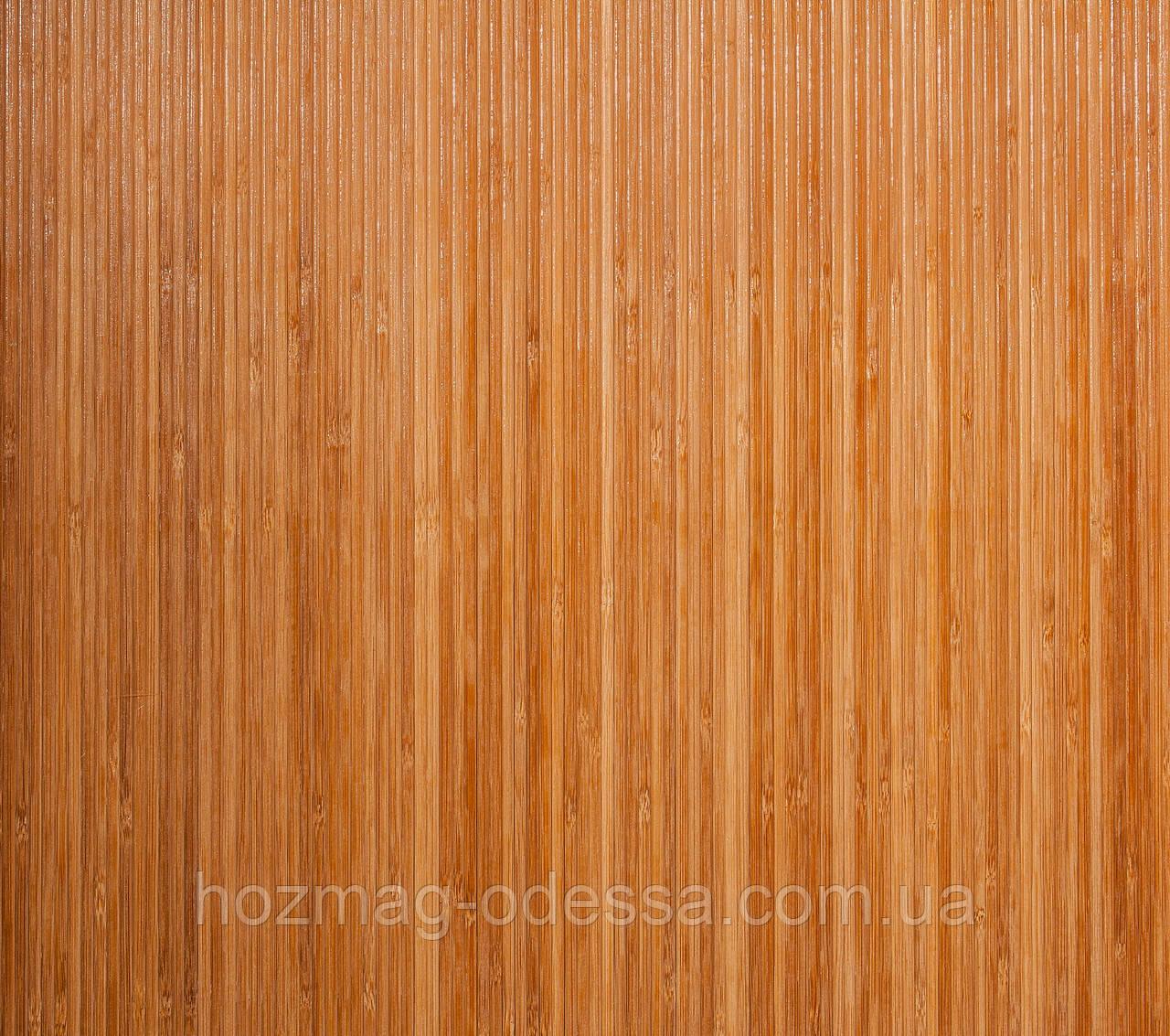 Бамбуковые обои темные 8мм, ширина 200см.