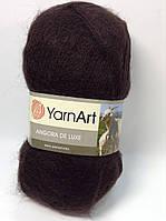 Пряжа angora de luxe - цвет темно-коричневый