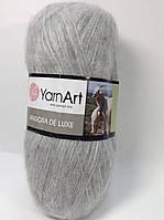 Пряжа angora de luxe - цвет серый