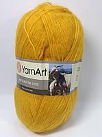 Пряжа angora de luxe - цвет желтый