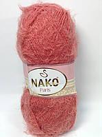 Пряжа nako paris - цвет теракотово-розовый