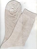 Носки мужские х/б однотонные с сеткой в связках Классик, 33 размер, бежевые, 1067