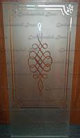 Стекло в двери с художественным пескоструем, фото 1