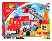 Конструктор JDLT 5152 Пожарная машина КК
