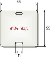 Бирки кабельные маркировочные У-134,У-135,У-136