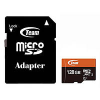 MicroSDXC 128GB UHS-I Class 10 Team + SD-adapter (TUSDX128GUHS03)