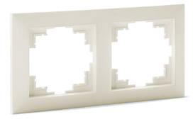 Рамка SVEN Comfort SE-60002-C двухместная кремовая UAH