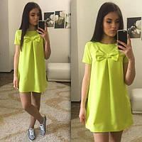 Платье Молодёжное бантик для беременных цвет лимонный
