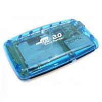 Кардридер Gembird (FD2-ALLIN1) ALL in 1 синий USB