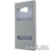 Чехол книжка с окошком для Samsung Galaxy A5 (A510) 2016 стальная