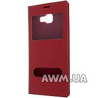 Чехол книжка с окошком для Samsung Galaxy A5 (A510) 2016 красный
