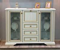 Комод Вайт витрина бар 2w3s1b Распродажа 1195х1610х450мм ясень снежный + сосна золотая Гербор