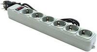 Фильтр питания Gembird Power Cube 6 розеток 1,8м (SPG6-G-6G) серый